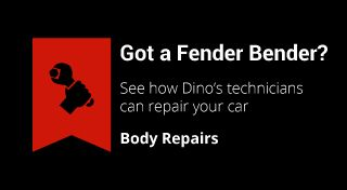 Got a Fender Bender? | See how Dino's technicians can repair your car | Body Repairs